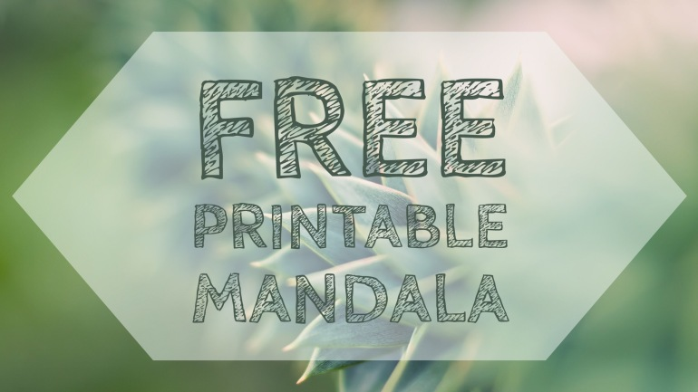 Free Printable Mandala art coloring page
