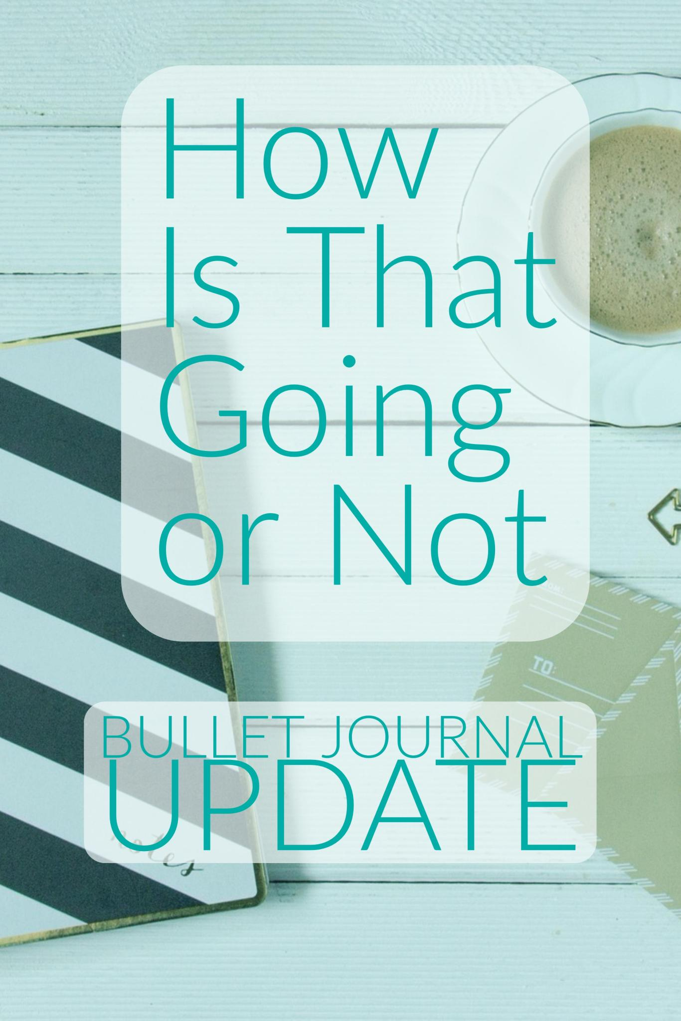 How Is That Going or Not - Bullet Journal Update