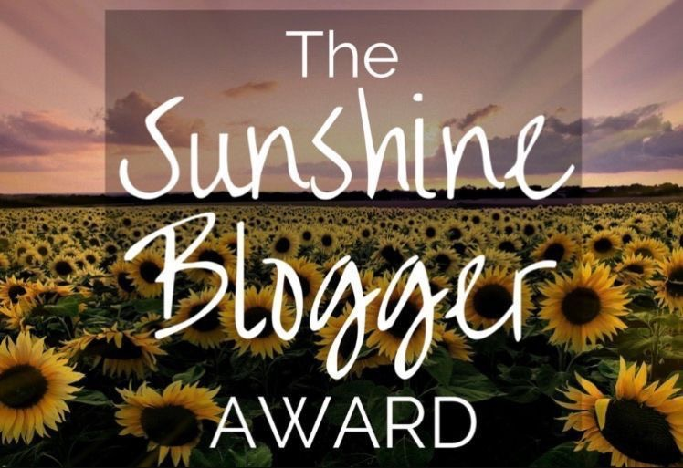 sunshine blogger award sunburntaloe